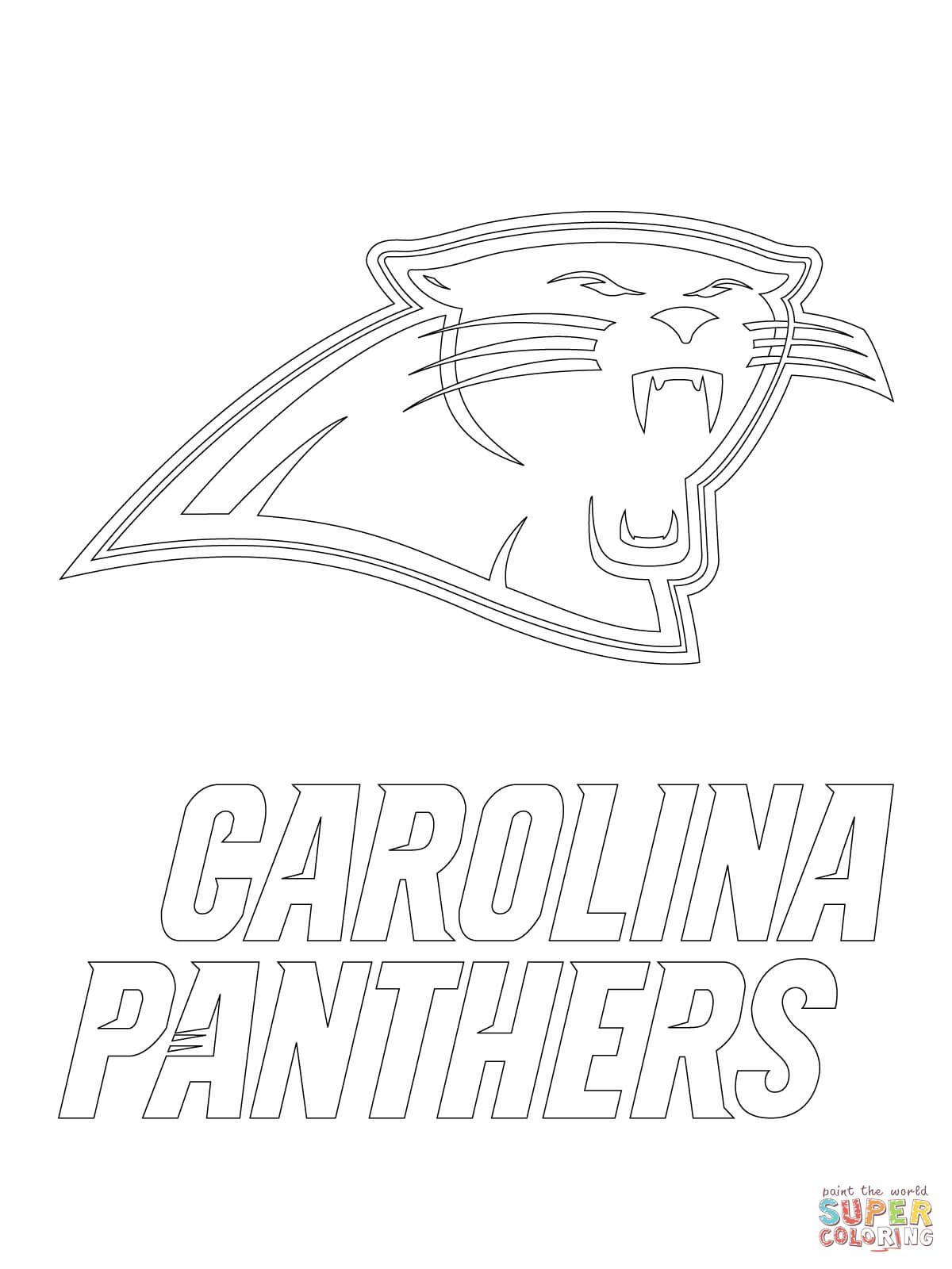Carolina Panthers Coloring Page (With images) Carolina