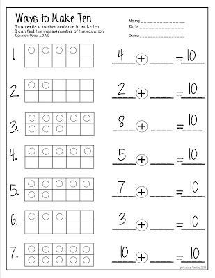 Free Let'S Make 10 Addition Worksheet. | Teacher Ideas | Pinterest