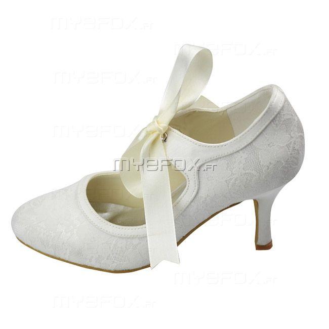chaussure femme mariage petit talon mariage pinterest petits talons chaussures femmes et. Black Bedroom Furniture Sets. Home Design Ideas