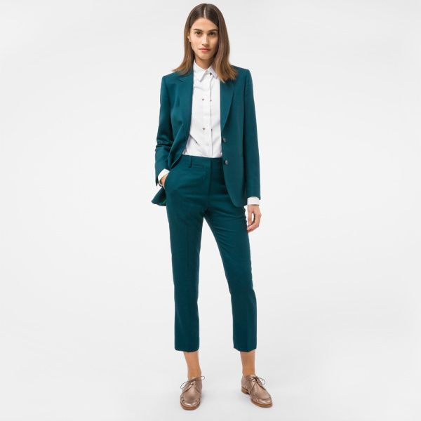 Forest Green Womens Pant Suit