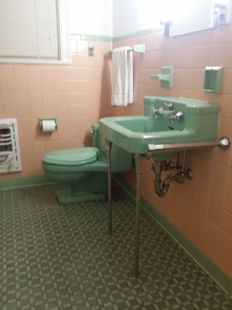 Charming Vintage Ming Green Porcelain American Standard Sink 1950u0027s