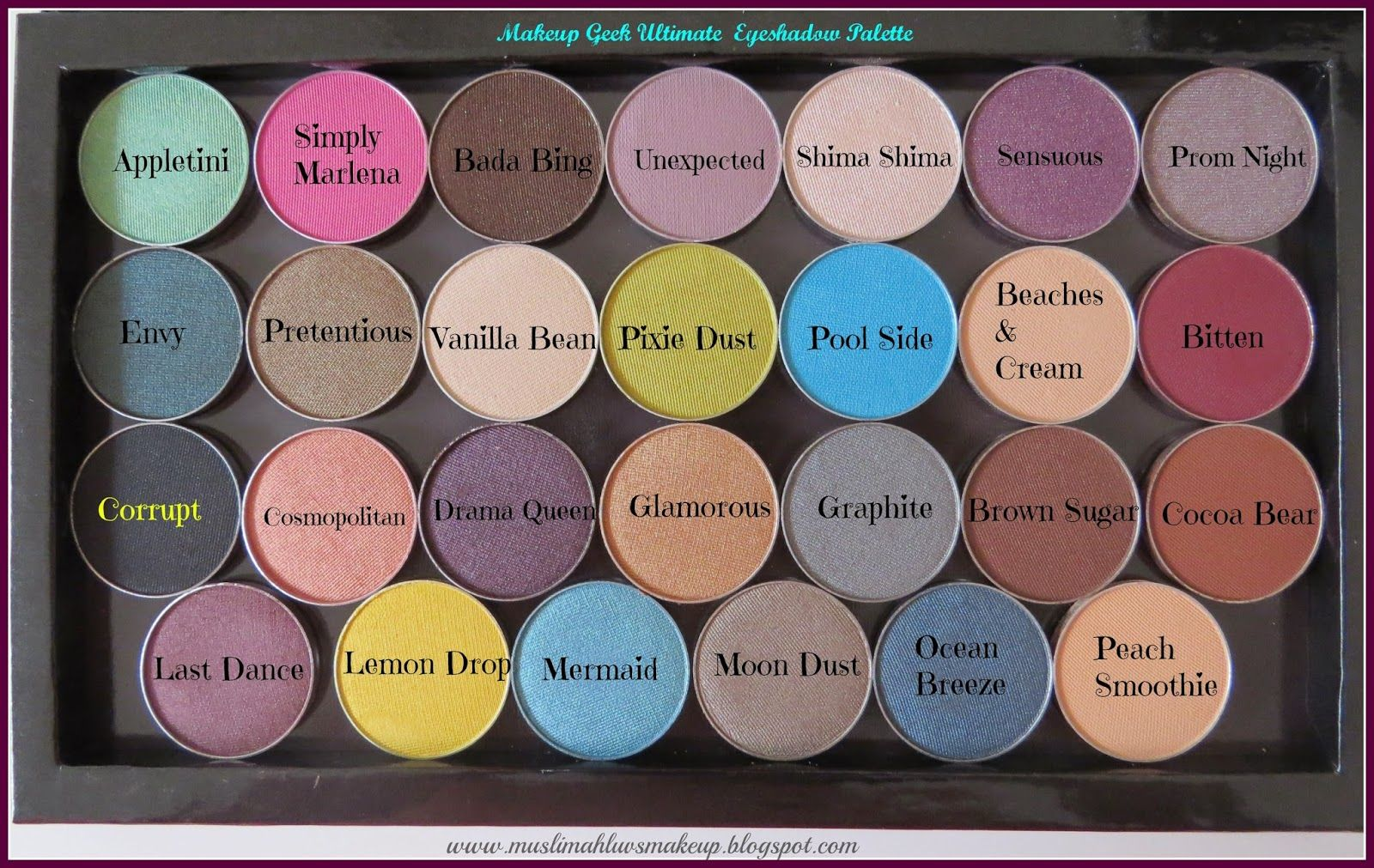 Makeup Geek\u0027s Ultimate Eyeshadow Palette Review,Photos and