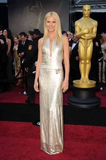 Gwyneth Paltrow was dripping liquid silver in metallic Calvin Klein in 2011. - Getty