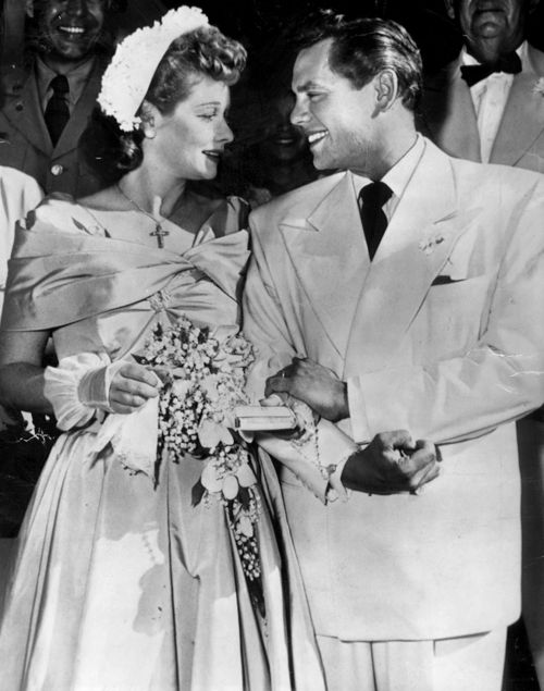 Lucille ball and desi arnaz s second wedding june 1949 for Lucille ball wedding dress
