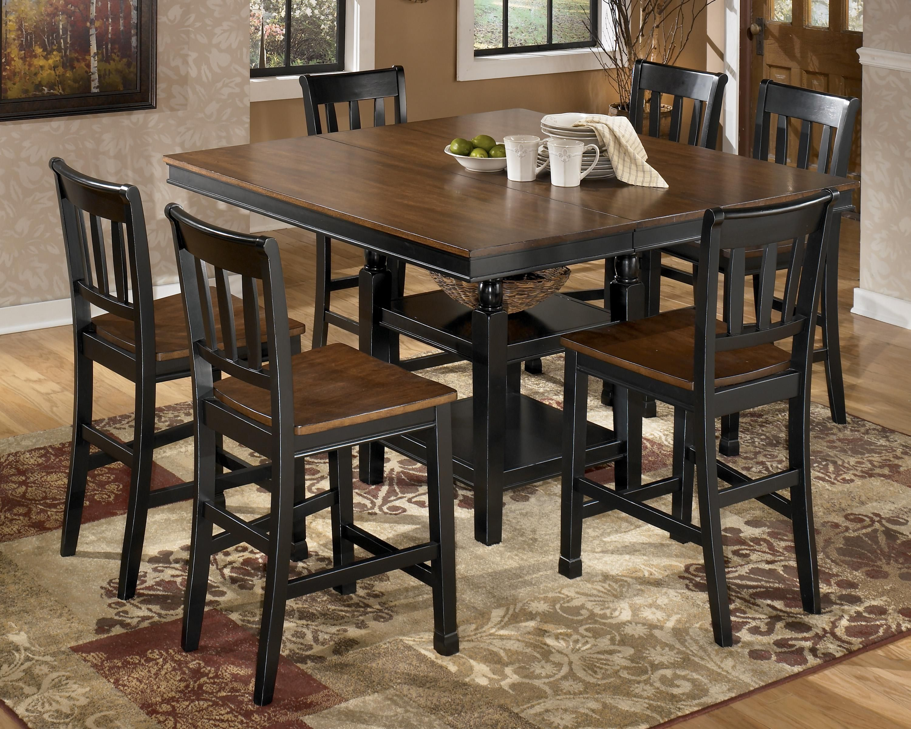 Ashley Kitchen Furniture Owingsville 7 Piece Counter Extension Table Set By Signature