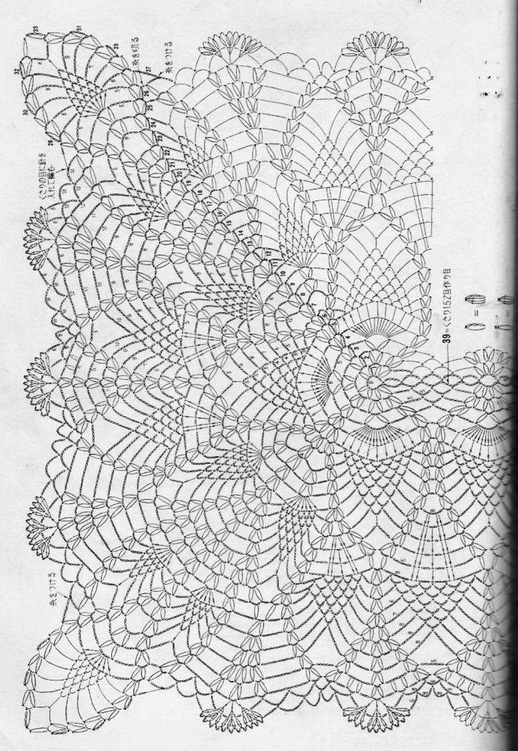 crochelinhasagulhas: Caminho de mesa em crochê   Receitas de file ...