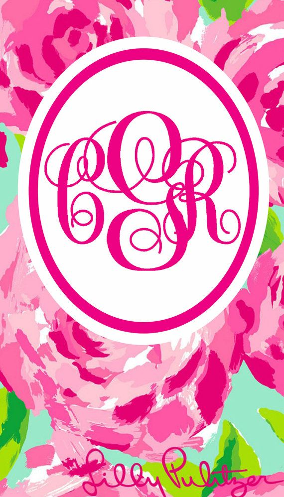 Exceptional Monogrammed Lilly Pulitzer IPhone Wallpaper By PinkSandDollar, $3.00