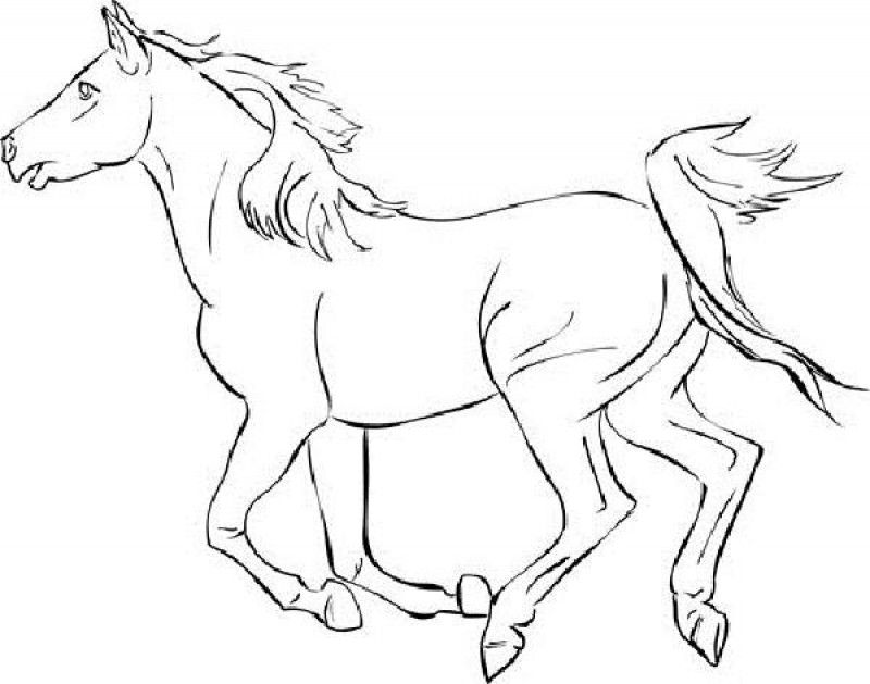horse coloring pages mustang color page - Running Horse Coloring Pages