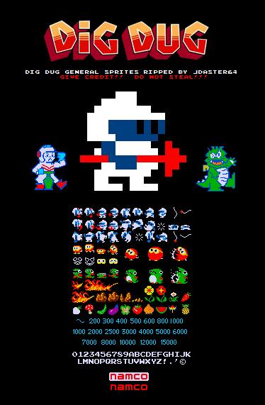 Always Dig Dug Sprites Forever Retro Arcade Games Retro Video Games Classic Video Games