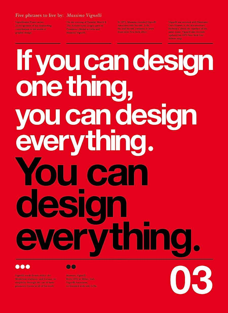 Poster design for class 5 - 5 Lessons From Massimo Vignelli Abduzeedo Design Inspiration Tutorials