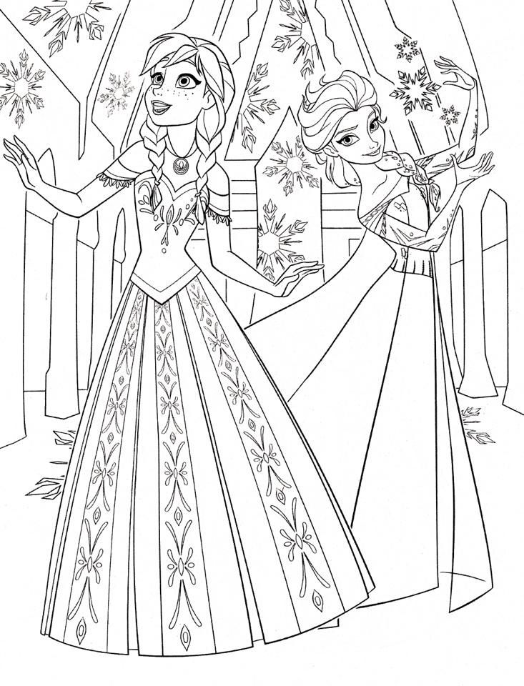 Anna And Elsa Drawing Elsa Coloring Pages Disney Princess Coloring Pages Frozen Coloring Pages