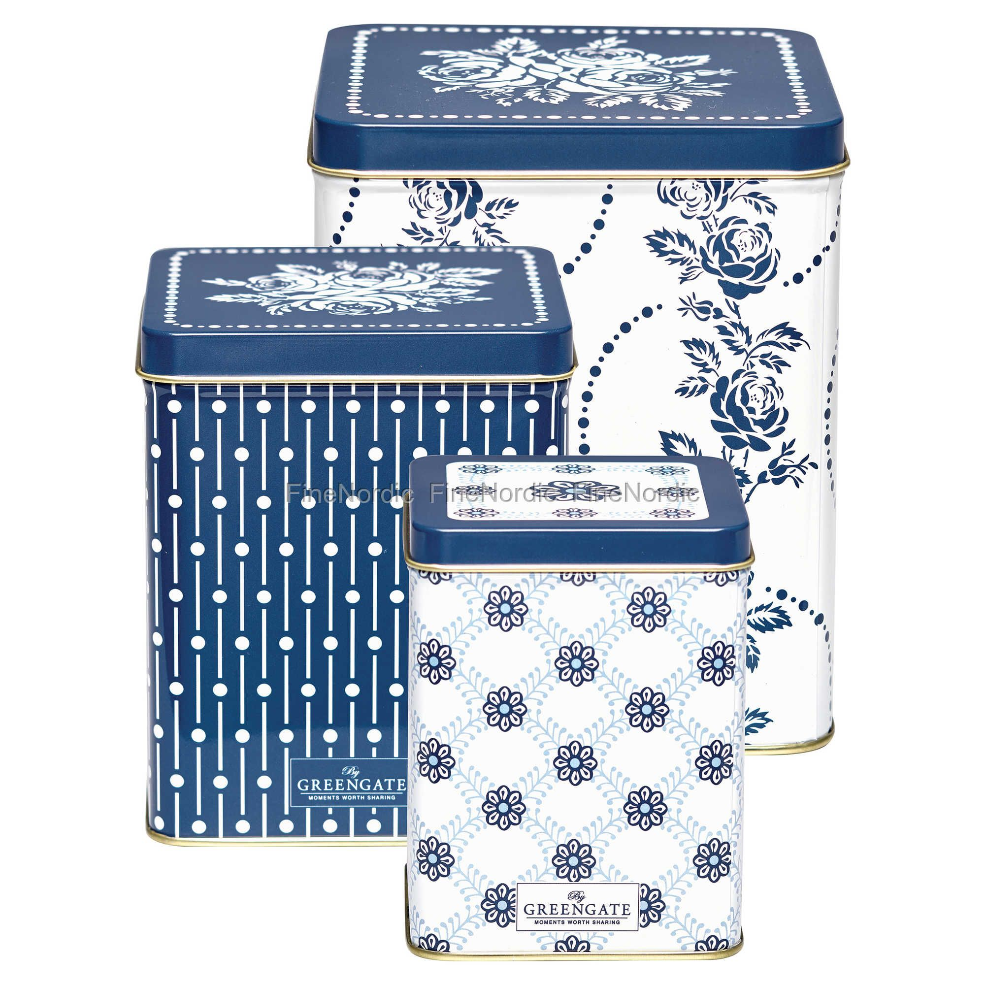 SET OF 3 SHABBY CHIC TIN BOXES BUY AS A SET OR SEPARATELY
