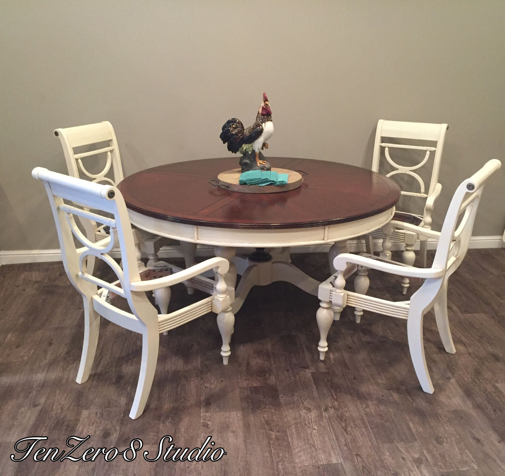 Super Table Refinished In General Finishes Antique White Milk Machost Co Dining Chair Design Ideas Machostcouk