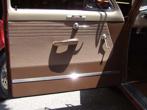 1950 Ford Custom Tudor Driver S Side Door Panel Detail Lebaron Bonney Company Www Lebaronbonney Com Automotive Upholstery Car Upholstery Ford Classic Cars