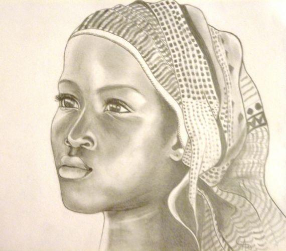 dessin portrait enfant afrique personnages crayon visage d 39 enfant dessins pinterest. Black Bedroom Furniture Sets. Home Design Ideas