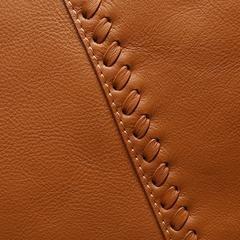 15″ Brown Leather Zip Top Tote Bag Purse