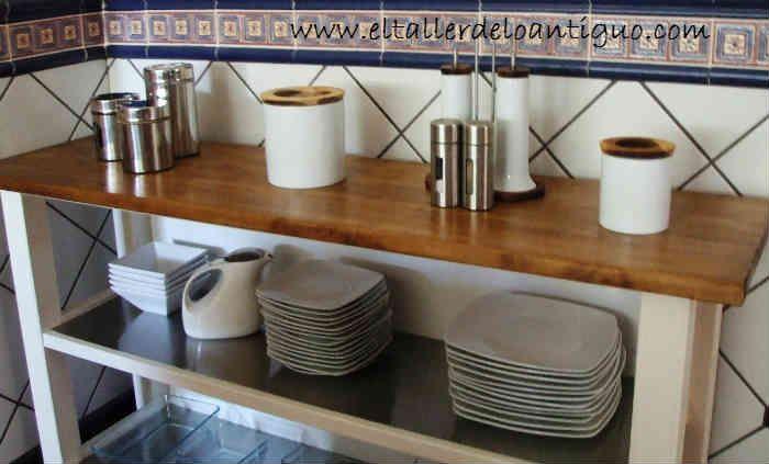 Mueble de Ikea, banco de cocina, como pintar madera y estructura ...