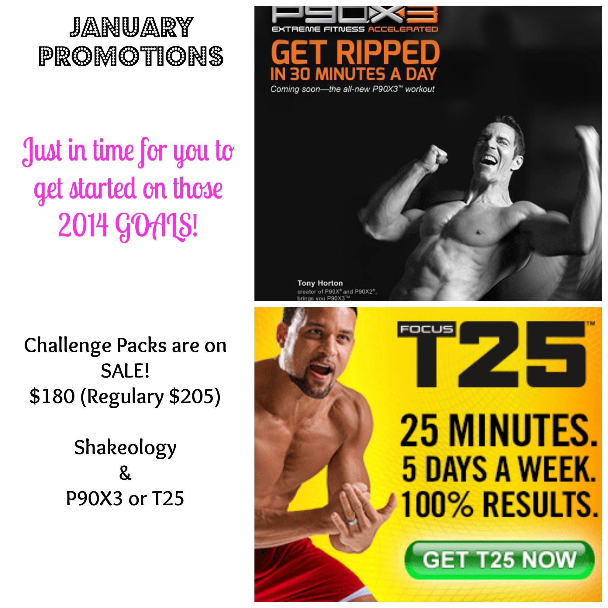 January Pricing On T25 And P90x3 Challenge Packs Extended