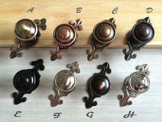 Drawer Knobs Dresser Knob Pulls Handles Black Antique Bronze Silver Nickel  Chrome Steel Retro Kitchen Cabinet