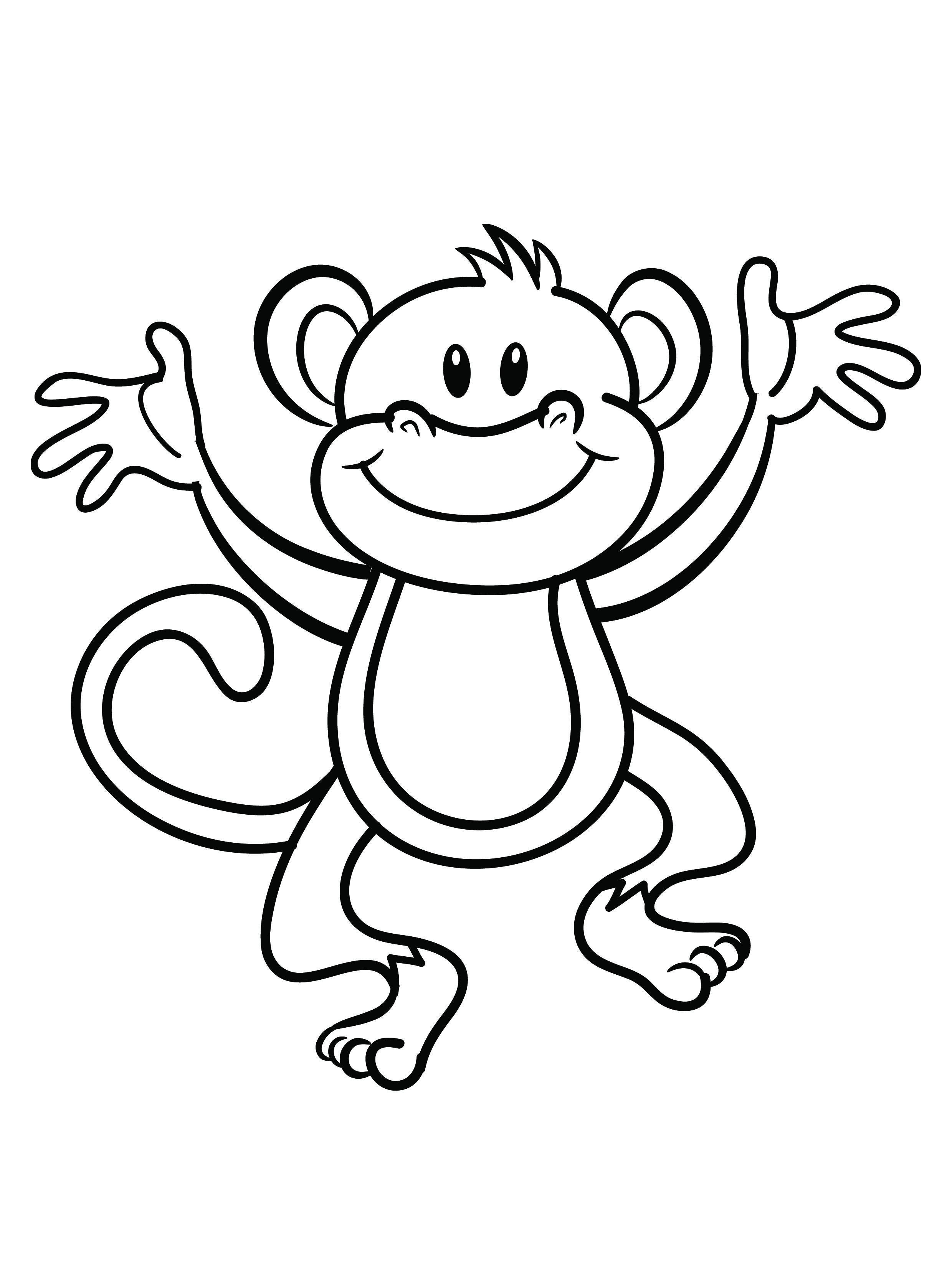 Monkey Coloring Pages For Kids động Vật Bản Phat Họa Phat Họa