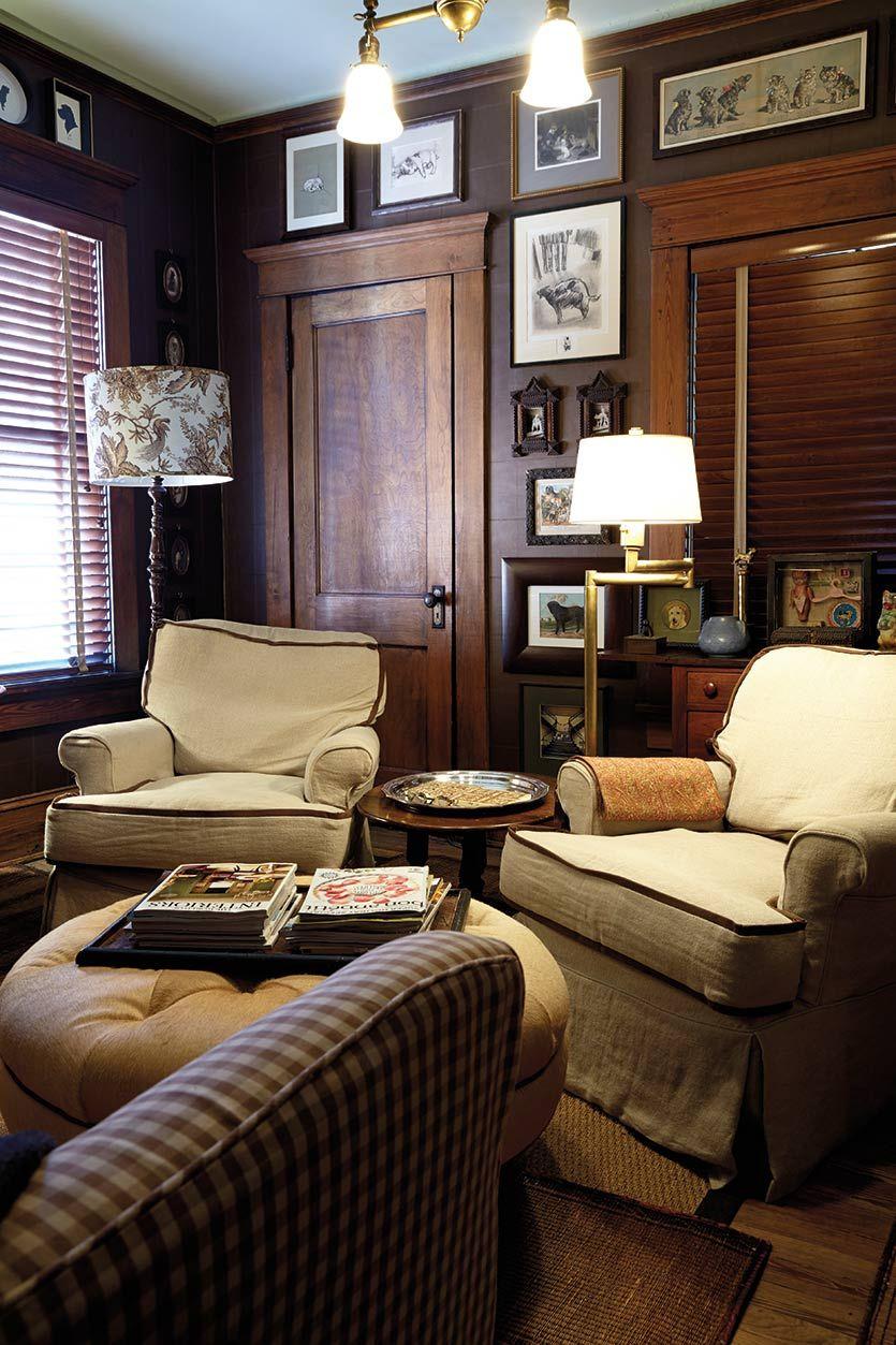 Tour of a craftsman home in atlanta ga living room pinterest craftsman craftsman style for Contemporary living room furniture atlanta