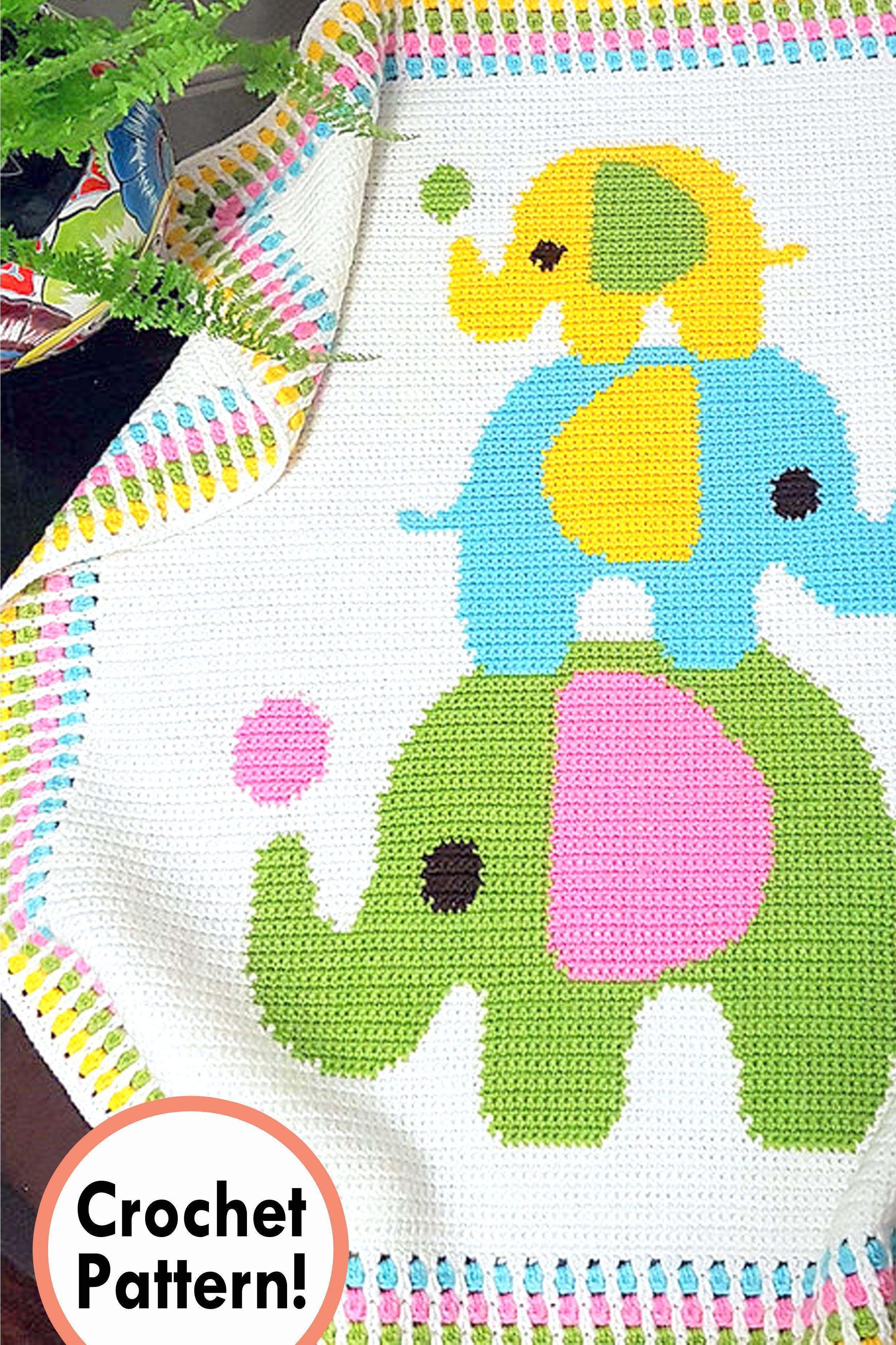 #Baby #Blanket #Crochet #Elephant #Pattern Elephant baby blanket Crochet pattern, crochet Elephant baby blanket, crochet afghan Elephant baby blanket #crochetelephantpattern