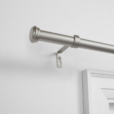 84 X160 Topper Patio Window Curtain Rod With Flat Cap Finial Set