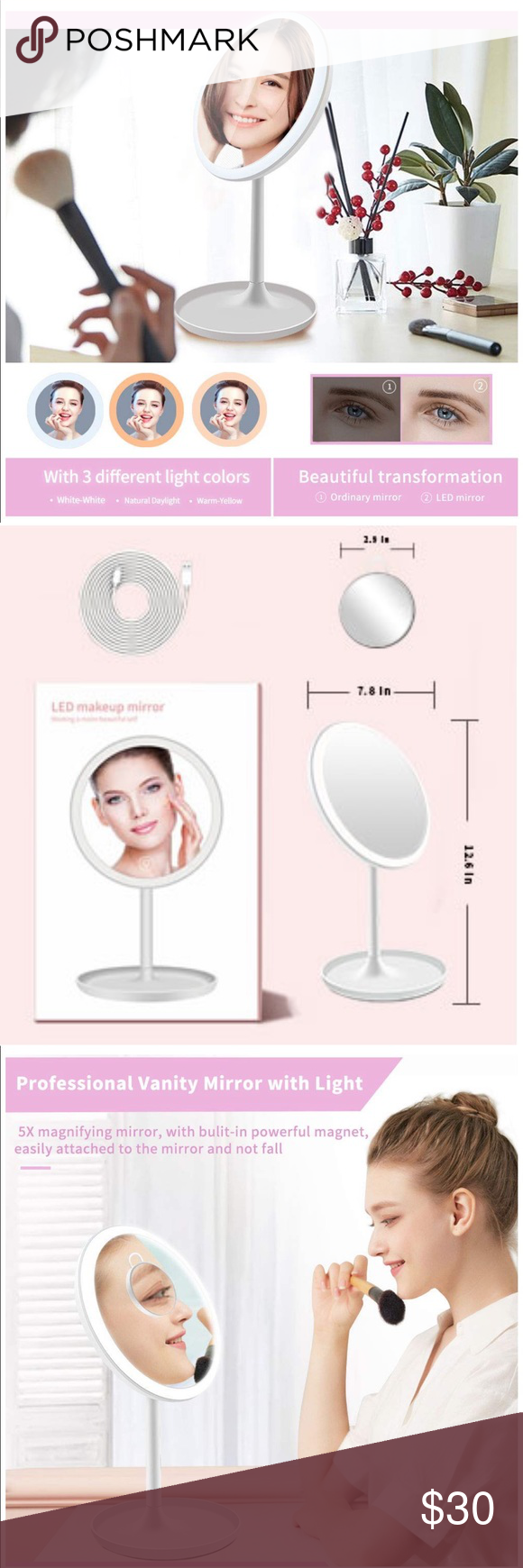 lighted makeup mirror with magnification new lighted makeup mirror with magnific…