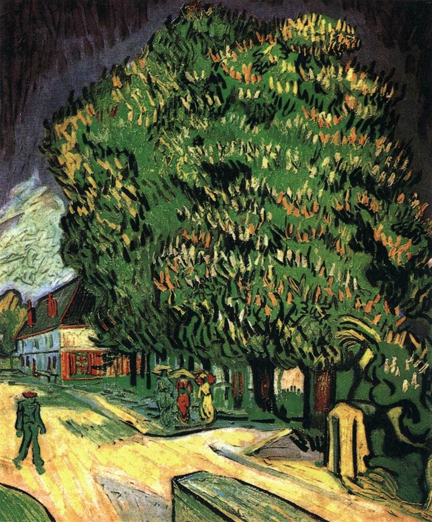 GOGH, Vincent vanChestnut Trees in BlossomMay 1890, Auvers-sur-OiseOil on canvas,Private collection