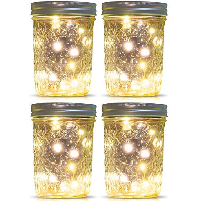 Mason Jar Lights Wide Mouth,WaterProof Outdoor Solar
