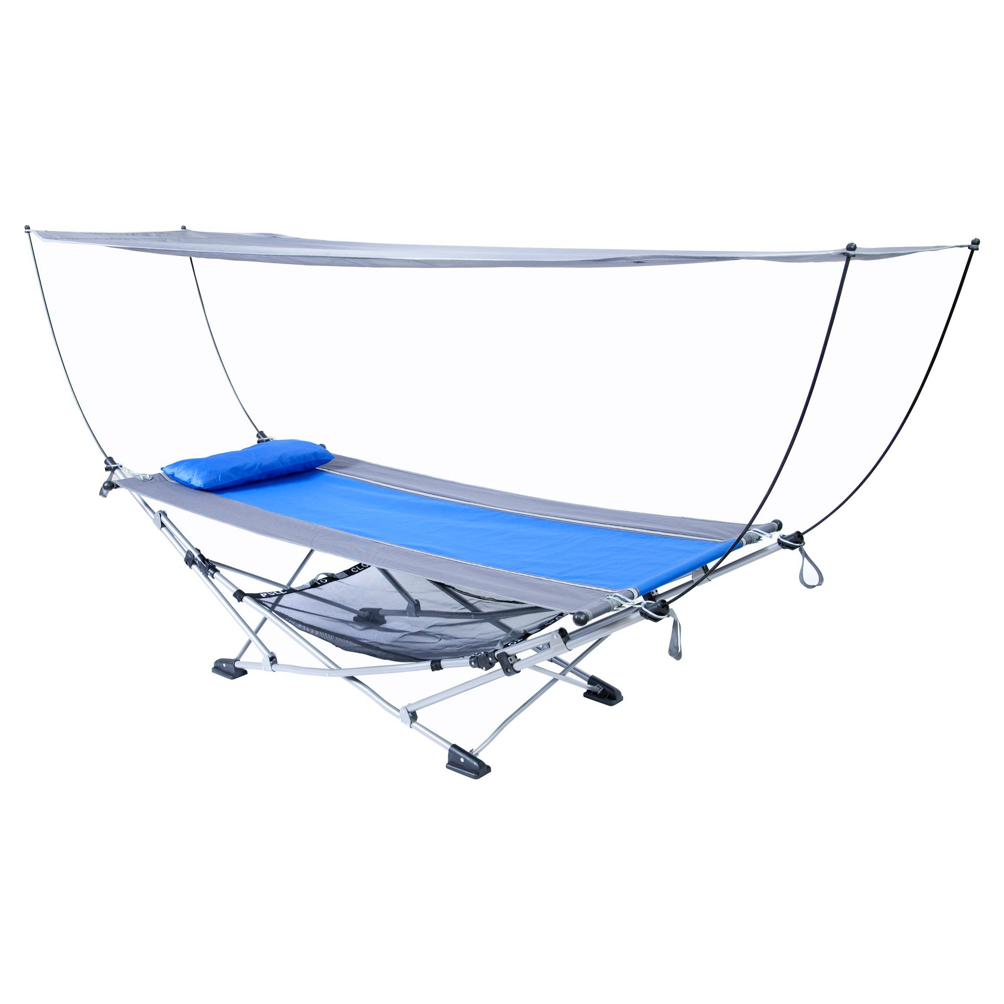 Ace Hardware Mac Sports Hammock With Canopy Blue Stand Portable