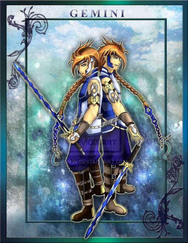 Zodiac Warrior Gemini by Epscillion on DeviantArt Anime