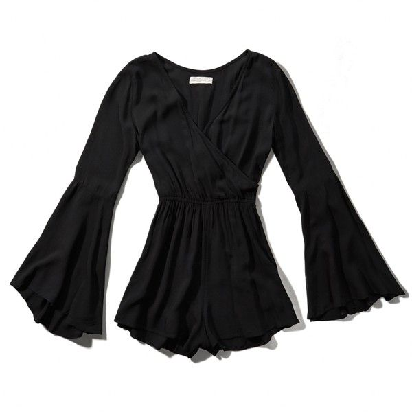 c509313b64f Abercrombie   Fitch Bell Sleeve Romper ( 29) ❤ liked on Polyvore featuring  jumpsuits