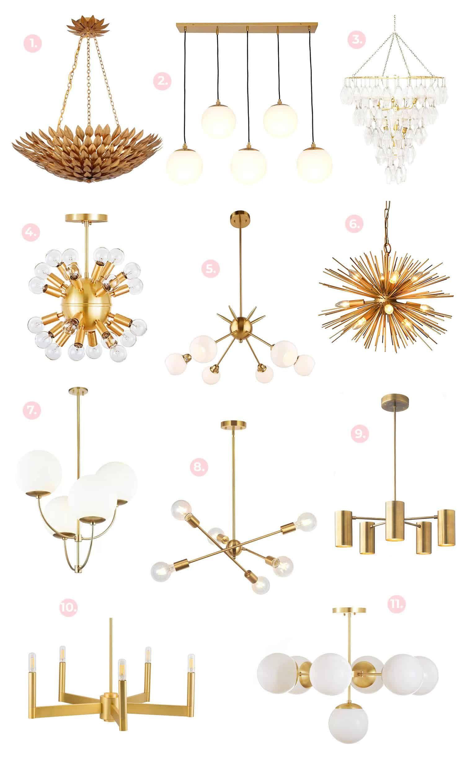 Gold Brass Light Fixture Shopping Guide Decor Details