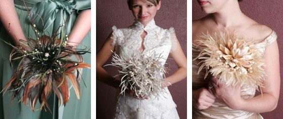feather non-floral wedding bouquets | Ball & Chain | Pinterest ...