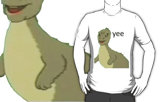 Yee Dinosaur Maym Version 1 Video Quality Black Text Essential T Shirt By Squidcase Cool Style Outfit Accessories Cute Outfits