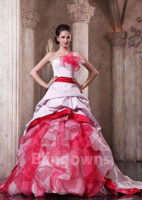 Pink Taffeta Ball Gowns