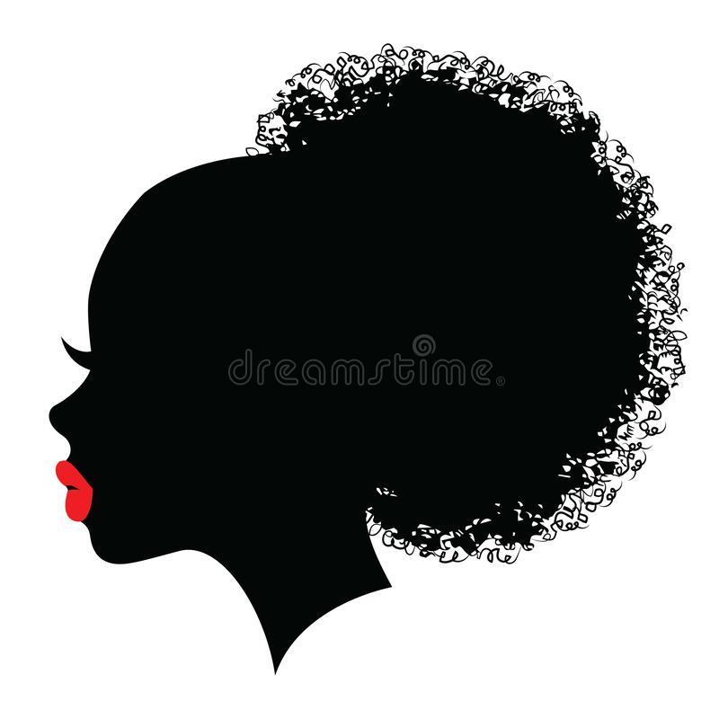 14 Hair Bun Sketch Illustrations Black Girl Art African Artwork Woman Face Silhouette