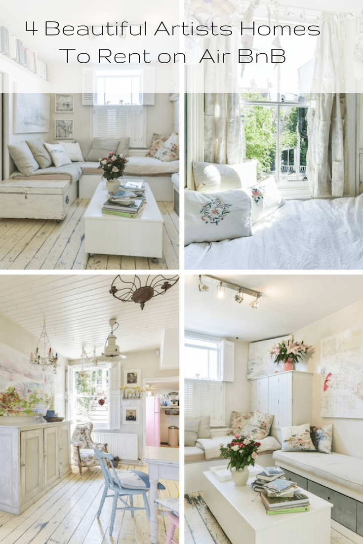 artists homes with beautiful interiors available to rent on air bnb shabbychic holidayhome also rh pinterest