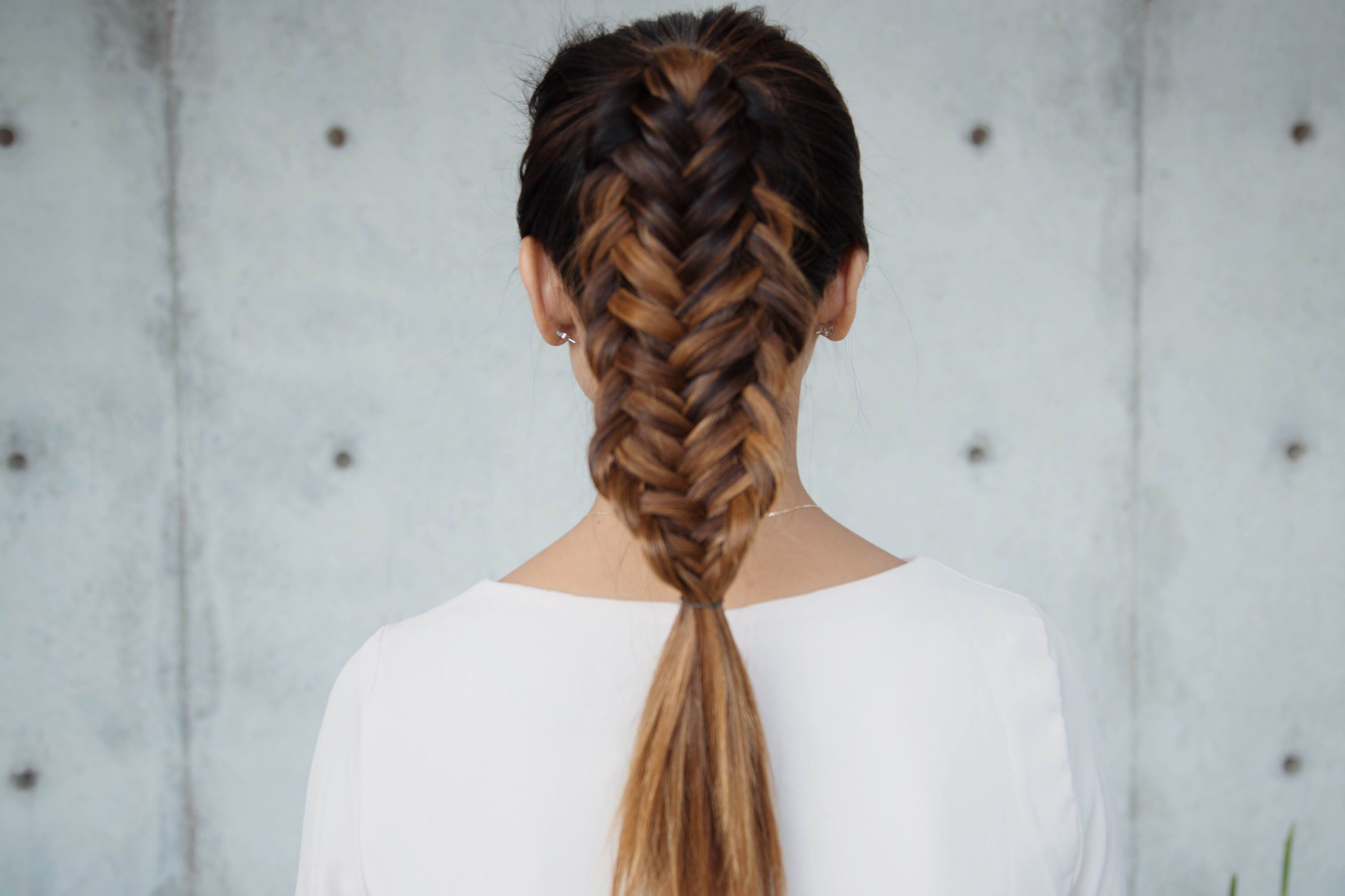 Half up hairdo with fishtail braid #fishtail #braids : Half up hairdo with fishtail braid #fishtail #braids #Half #hairdo #with # fishtail Braids casual # fishtail Braids updo