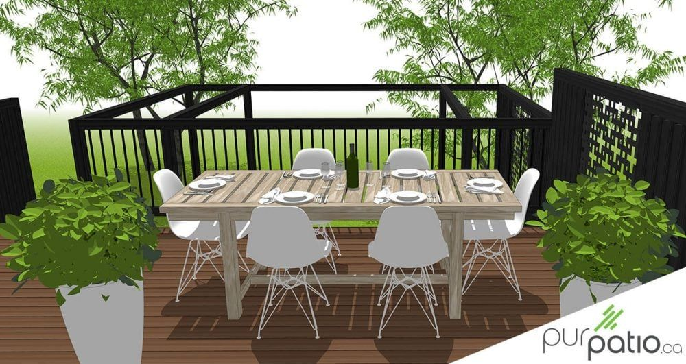 Terrasse Privee Laval In 2020 Deck Designs Backyard Backyard Patio Outdoor Furniture Sets