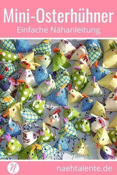 Mini-Osterhühner | Gratis Nähanleitung | Nähtalente
