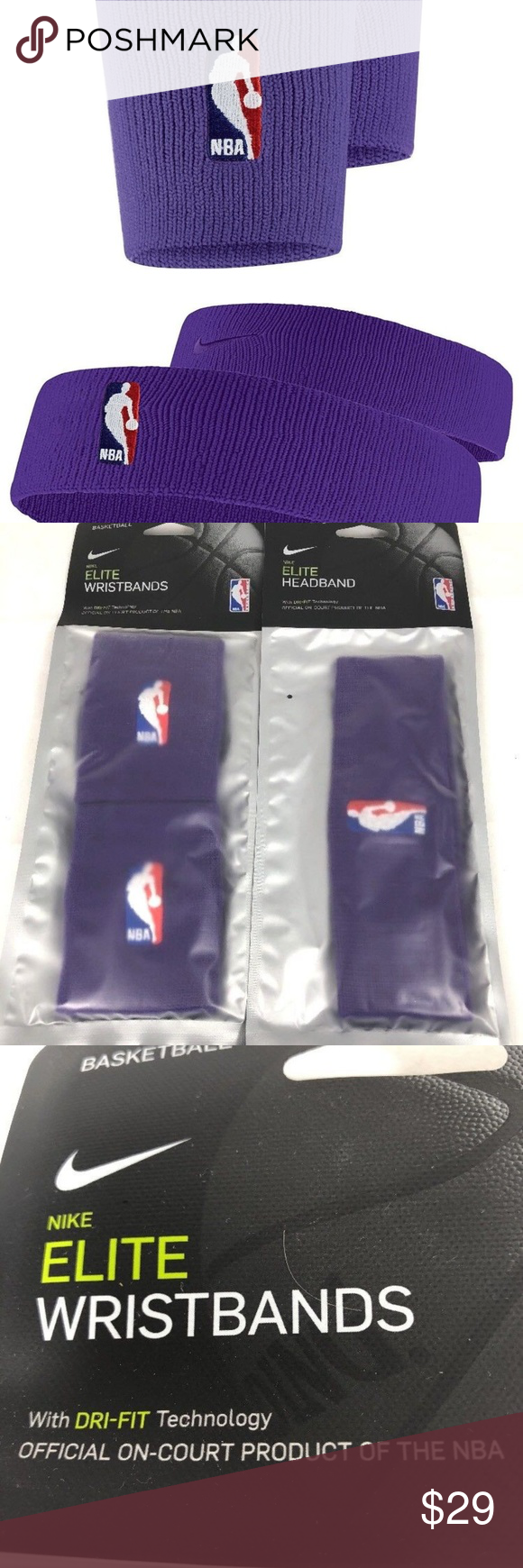 5029dc019ef NIKE Elite Dri Fit NBA Headband   Wristband SET NIKE Elite Dri Fit Headband    Wristband