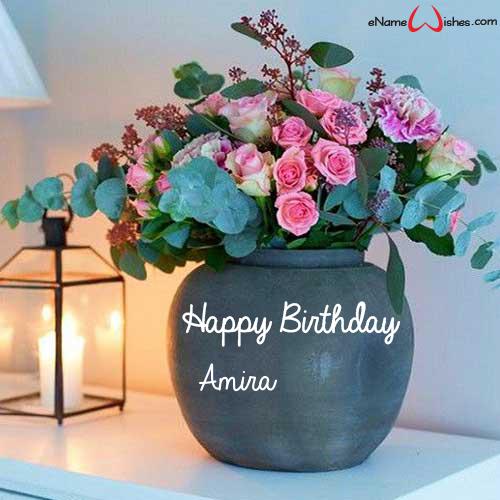 Best Happy Birthday Flowers Name Wish Enamewishes Happy Birthday Flowers Wishes Happy Birthday Flower Birthday Wishes Greetings