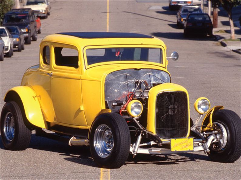 The American Graffiti Coupe With Its Chopped Grille Bobbed