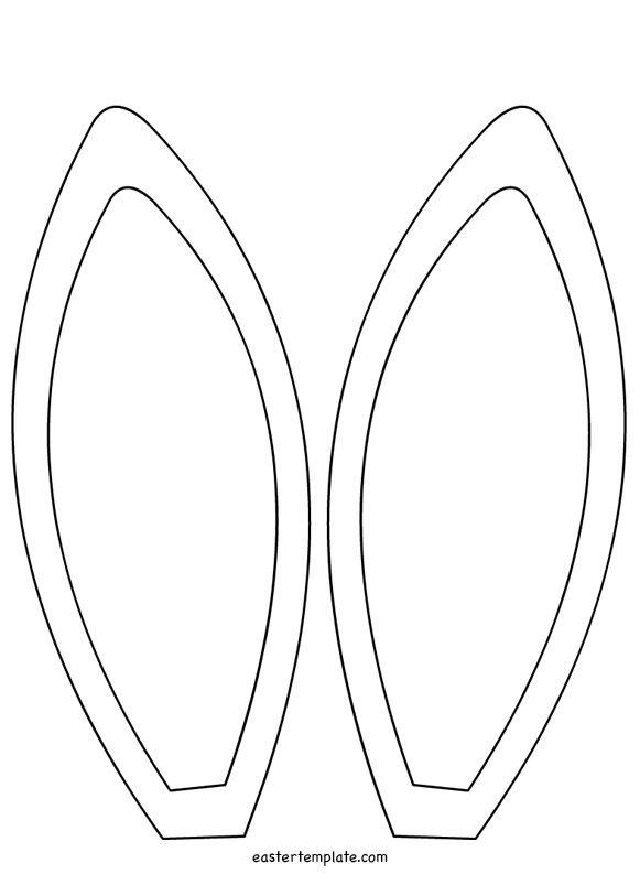 Bunny Ears Template Coloring Page Easter Bunny Ears Template