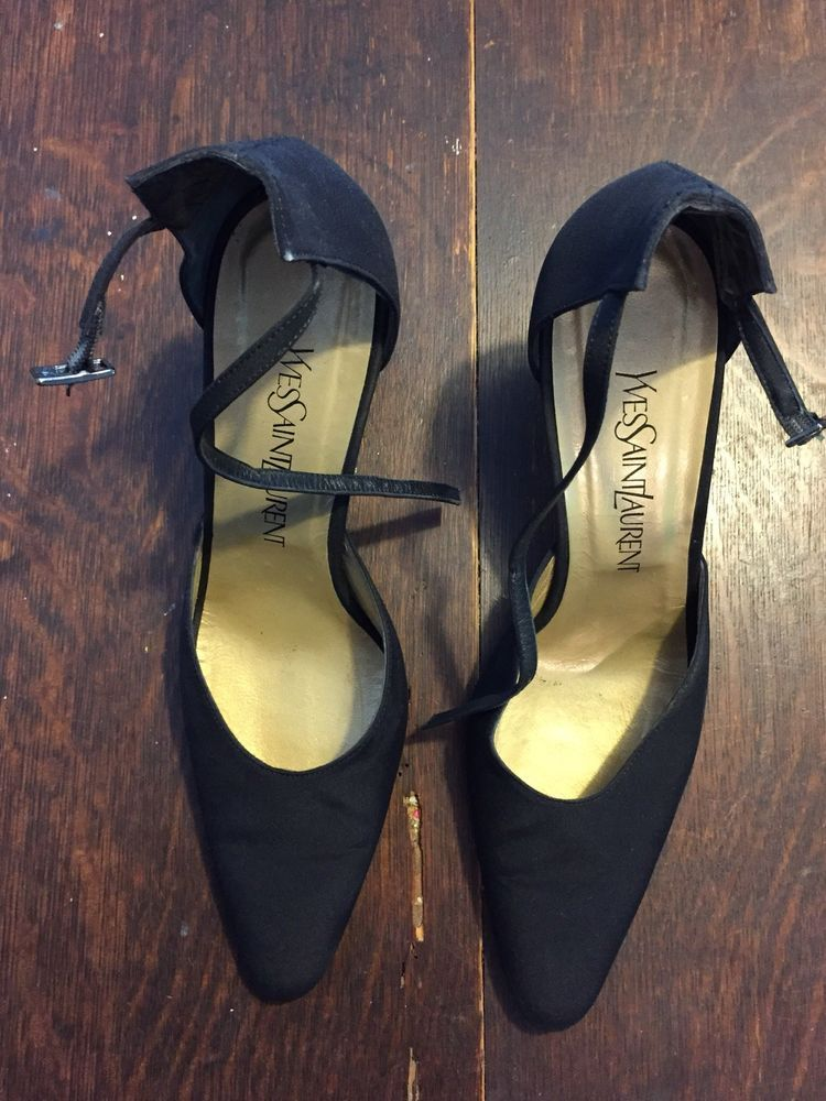 6d0b7b33142 Yves Saint Laurent High Heels Size 8.5 Black with Ankle Strap  fashion   clothing  shoes  accessories  womensshoes  heels (ebay link)