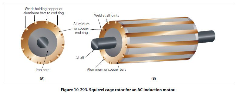 Squirrel cage rotor for an AC inducation motor | Electronics