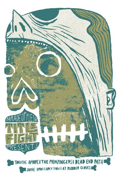 Touche Amore - The Menzingers - Dead End Path #gig #poster #design