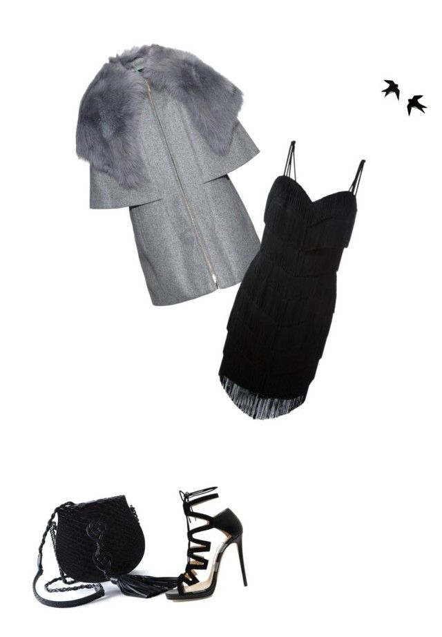 """Untitled #525"" by newrealq ❤ liked on Polyvore featuring Yves Saint Laurent, Moncler, Moschino and Jimmy Choo"